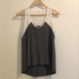 Zara Colour-block Sleeveless Top